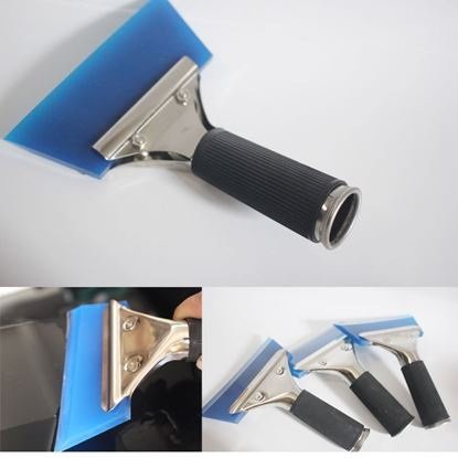 1PC Blue Razor Blade Scraper Water Squeegee Tint Tool for Car Auto Film For Window Cleaning Newest Dropping Shipping