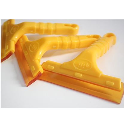 Yellow Car Plastic Nonslip Handle Glass Wiper Tint Water Squeegee Tool