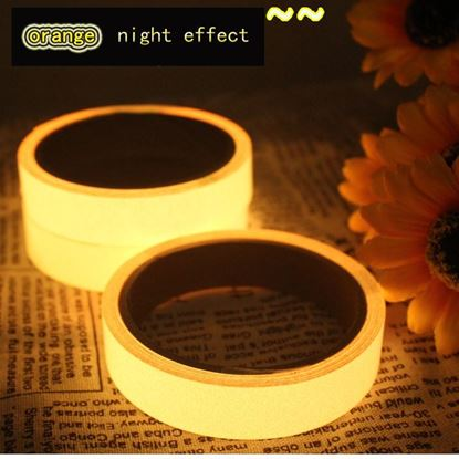 Picture of Luminous Tape Glow In The Dark 3M / 5M/10M  Safety Stage Stickers Home Decorations Self-adhesive Warning Tape Night Vision Wall Sticker