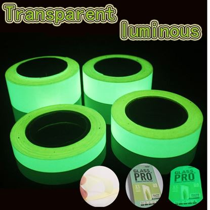 Picture of 3m Transparent Green Glow In Dark Wall Sticker Luminous Photoluminescent Tape Stage Home Decoration 6~8h Glow Width: 20mm ~ 50mm